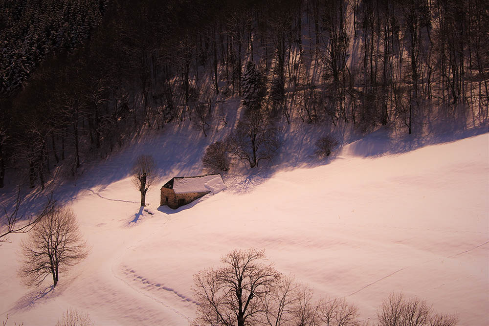 Espiaube en hiver