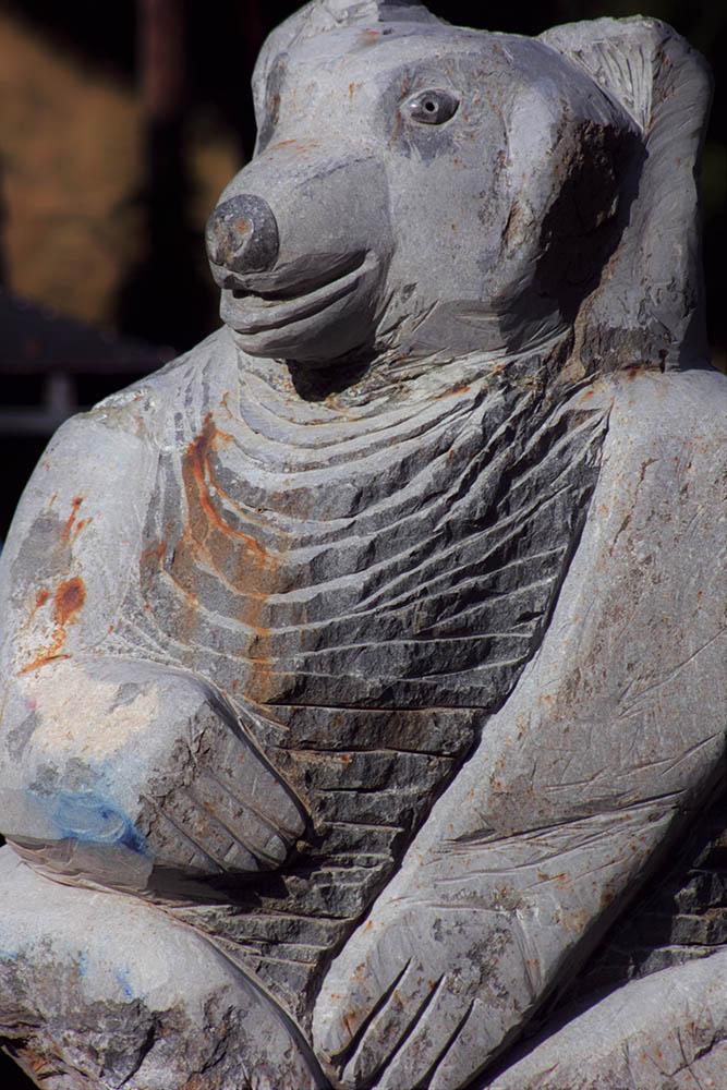 La mascotte en version pierre